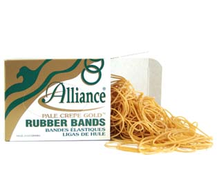 Alliance Rubber Pale Crepe Gold Rubber Bands