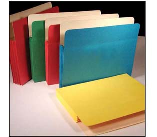 Kleer-fax Assorted Colored File Pockets