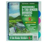 C-Line Products Biodegradable 5-Tab Poly Binder Index Dividers
